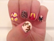 Beauty and the Beast villain Gaston was the inspiration for these ultra manly, hirsute nails.