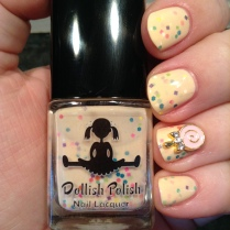 Dollish Polish's Get Your Sprinkle On!: Vanilla Custard with Sprinkles
