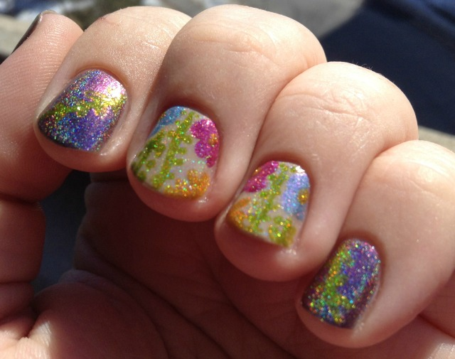Holo Flowers Fingers