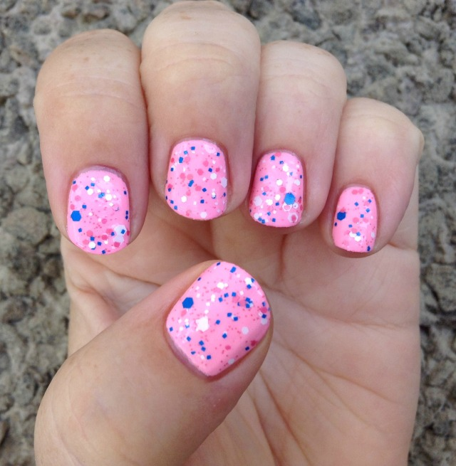Pink Bubbles Hand