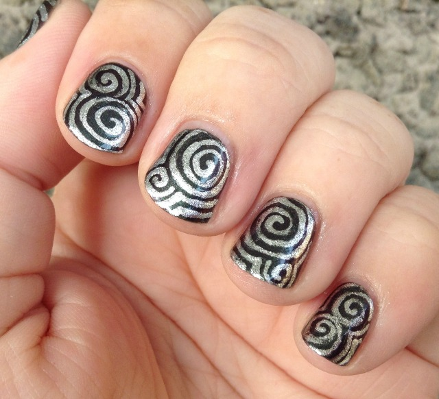Silver Swirls Fingers