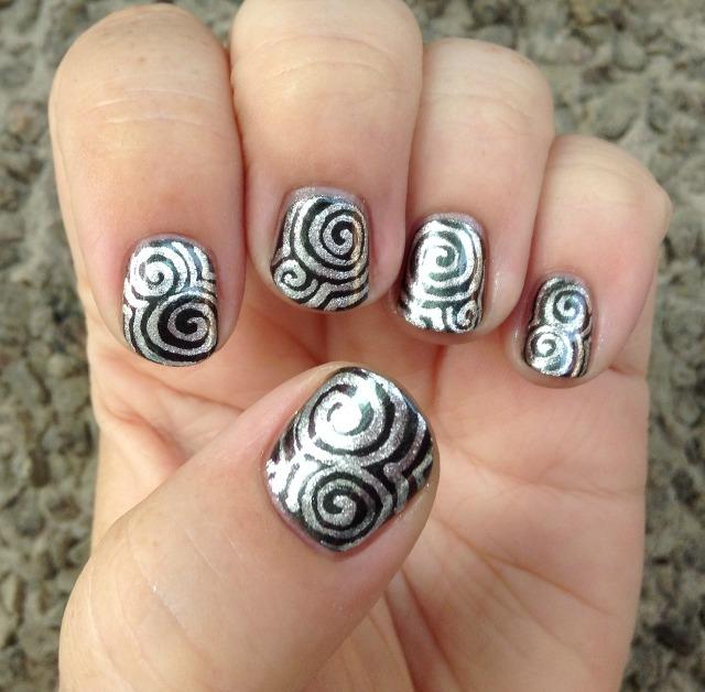 Silver Swirls Hand