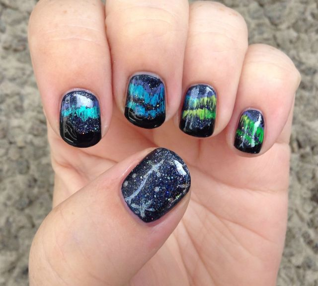 Aurora Borealis Hand