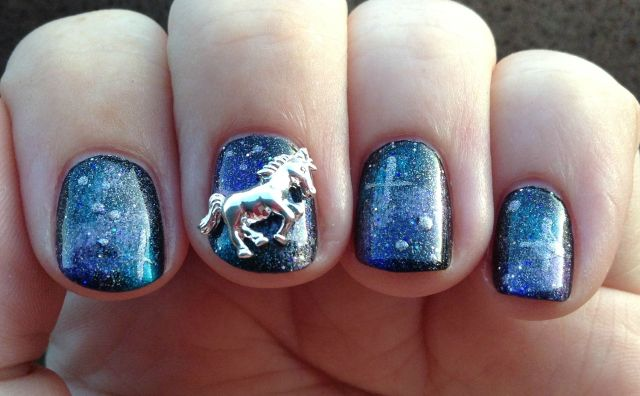 Unicorn in Space Fingers Shade
