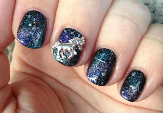 Unicorn in Space Fingers Sun