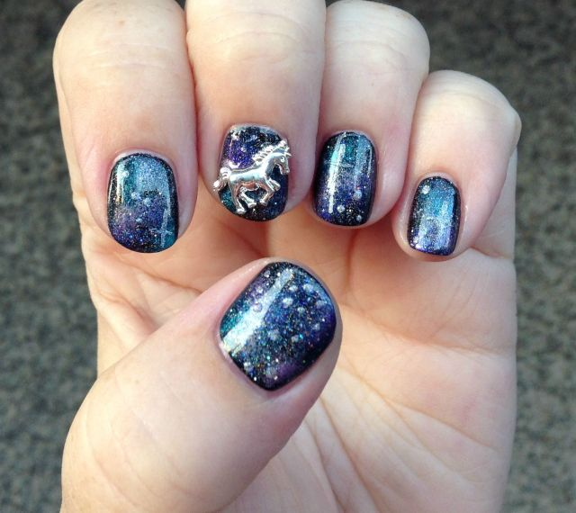 Unicorn in Space Hand