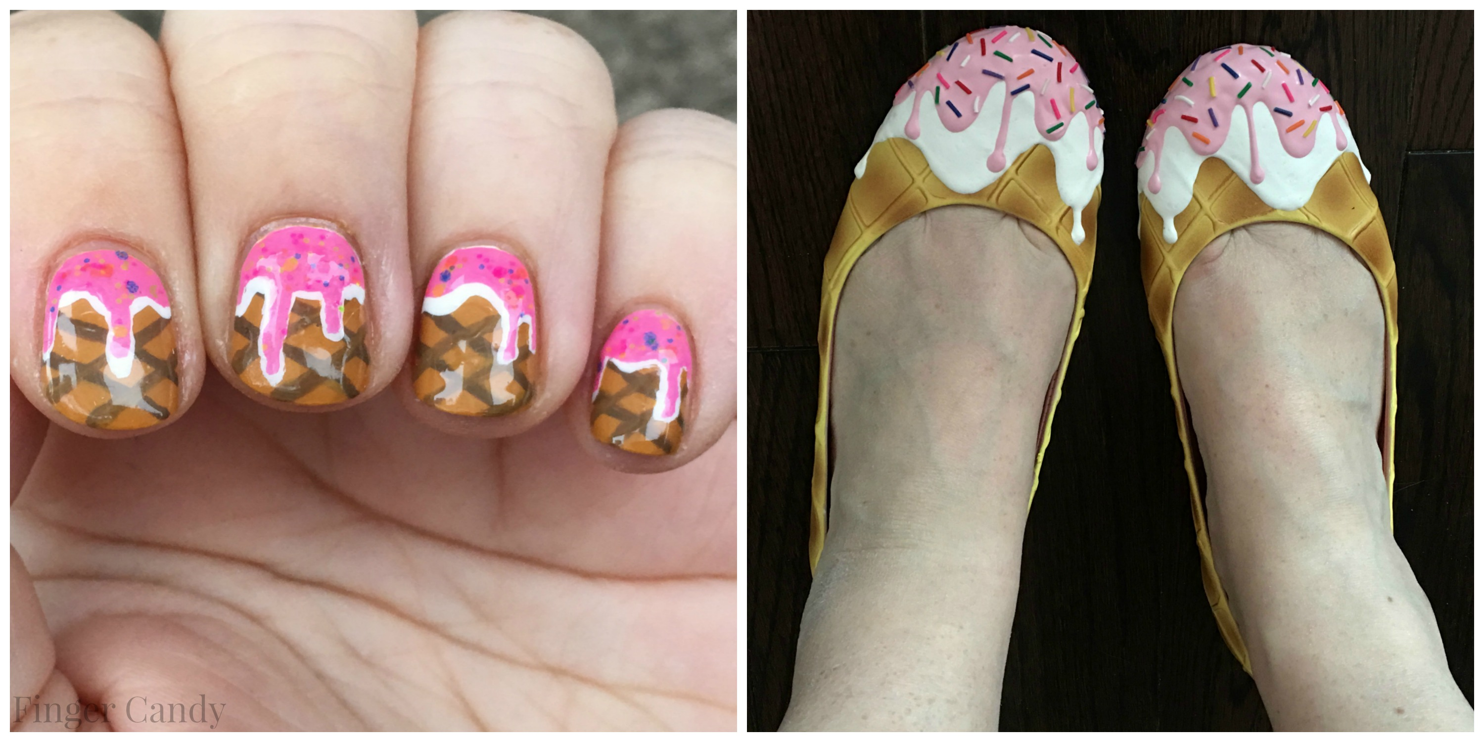 Ice Cream Shoe Collage