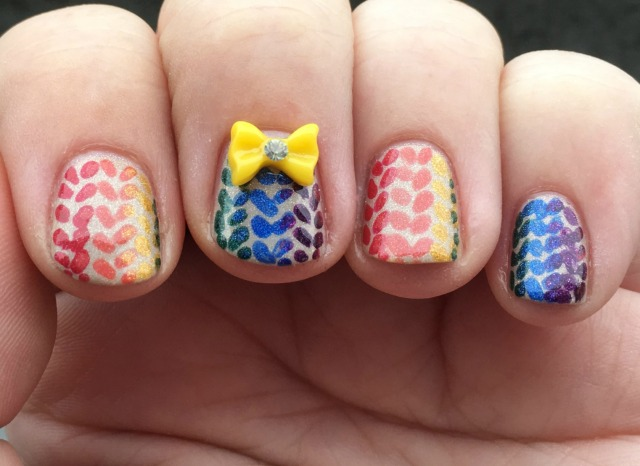 Rainbow Knit Fingers Front