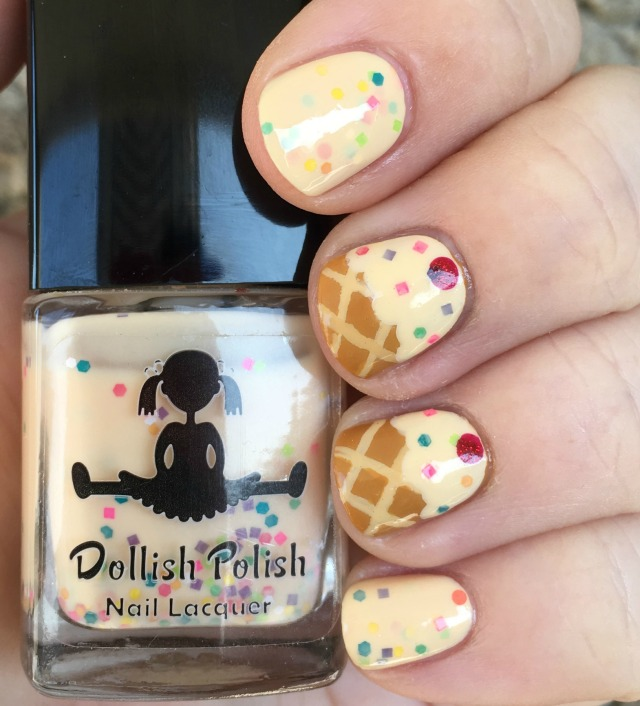 Dollish Polish's Get Your Sprinkle On!: Funfetti Frozen Custard