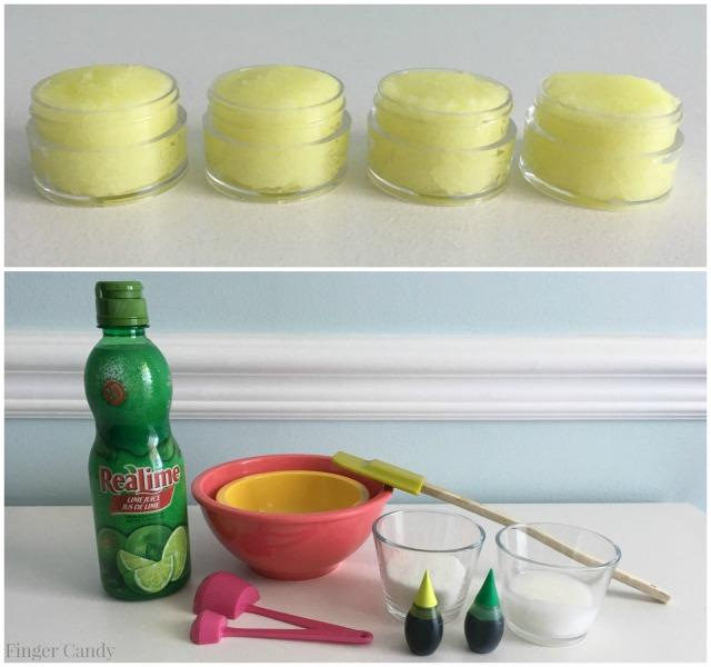 Lime Sugar Scrub Collage