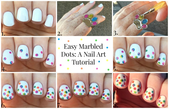 Marbled Dots Tutorial Collage