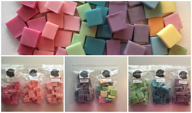 Rainbow Mini Melters Collage with Bags