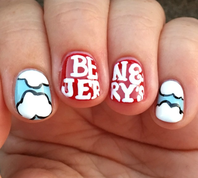 Ben and Jerry's Nails