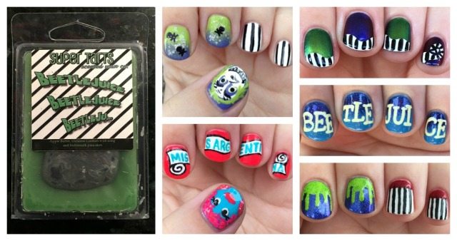 Beetlejuice Wax and Manis Collage