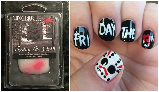 Friday the 13th Wax and Mani Collage