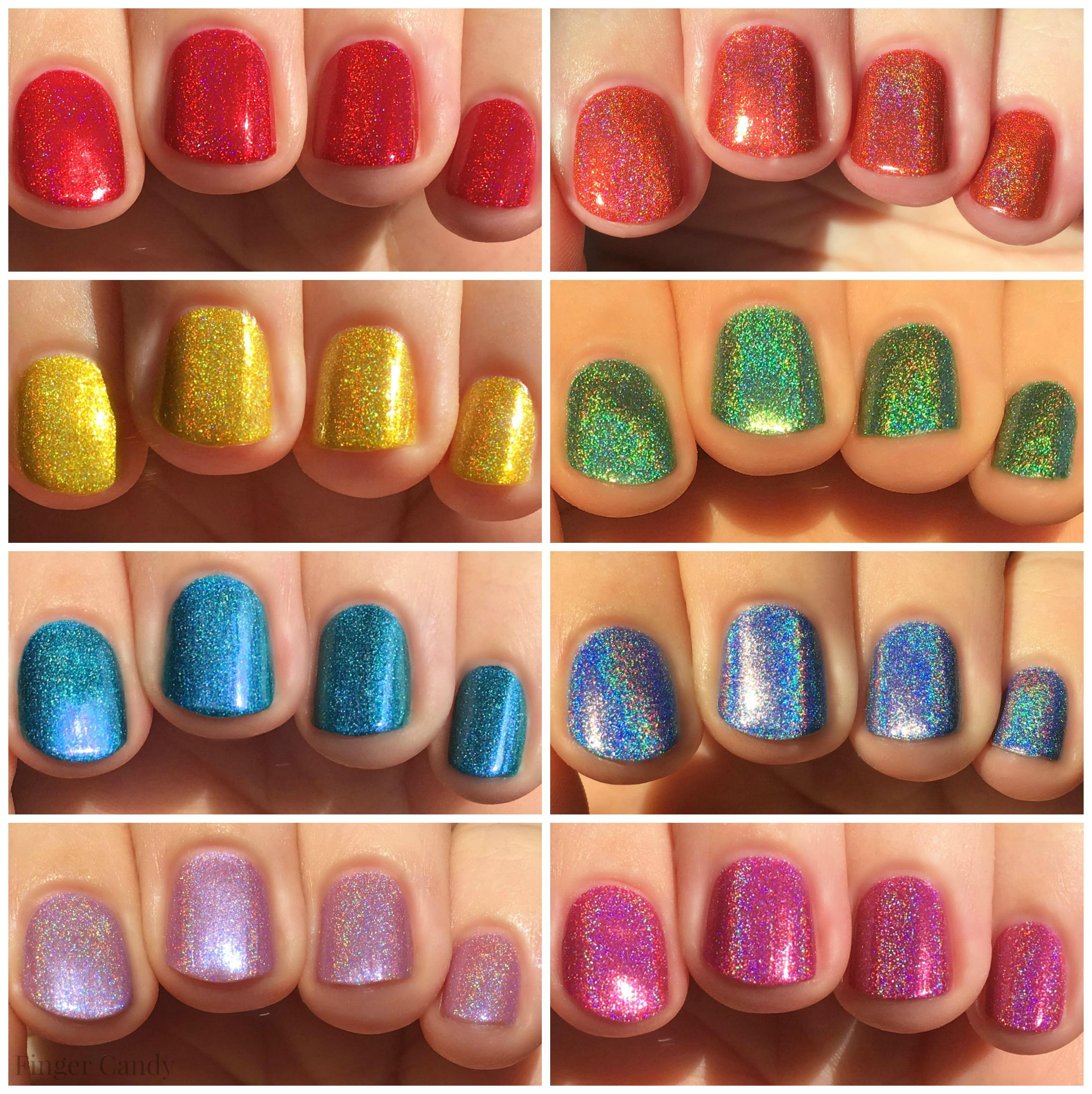 Rainbow Holo Collage 2