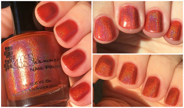 Rainbow Holo Collage 4 Orange