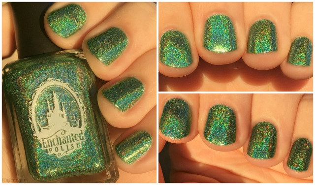 Rainbow Holo Collage 6 Green