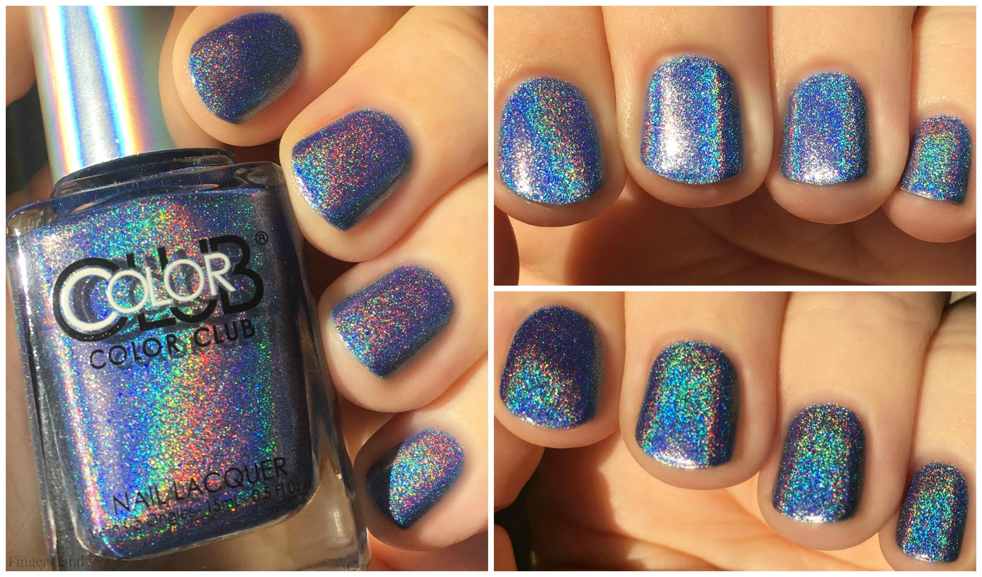 Rainbow Holo Collage 8 Blue