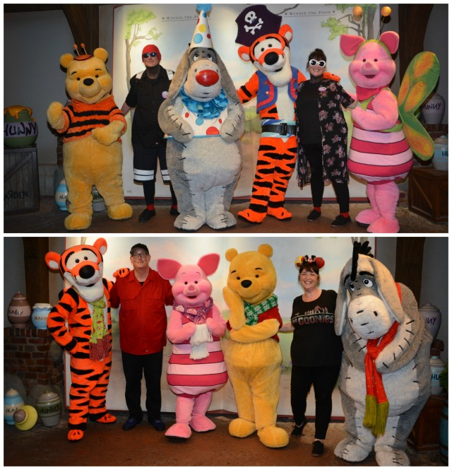 Halloween to Xmas Pooh Collage