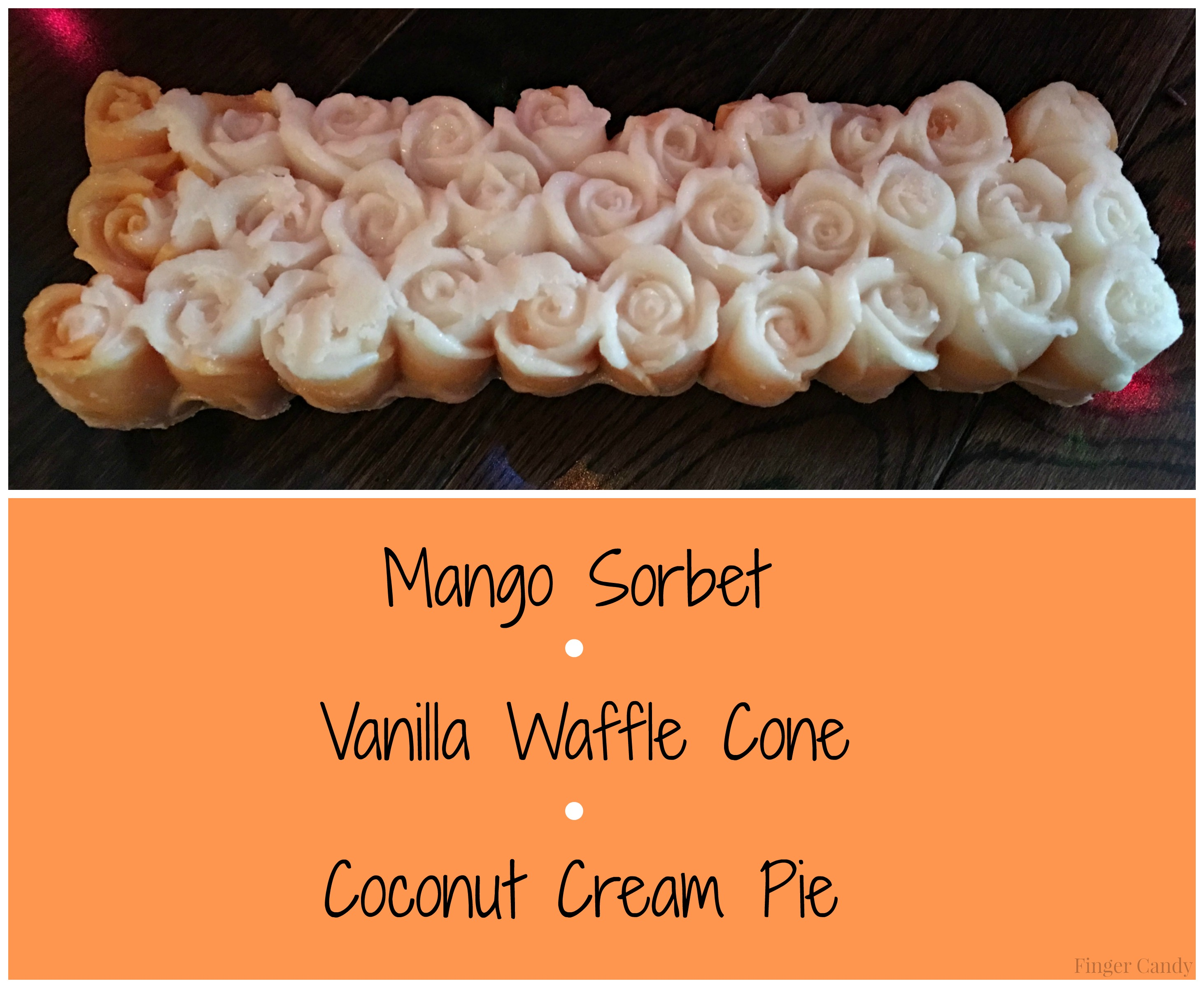 mango rose loaf collage