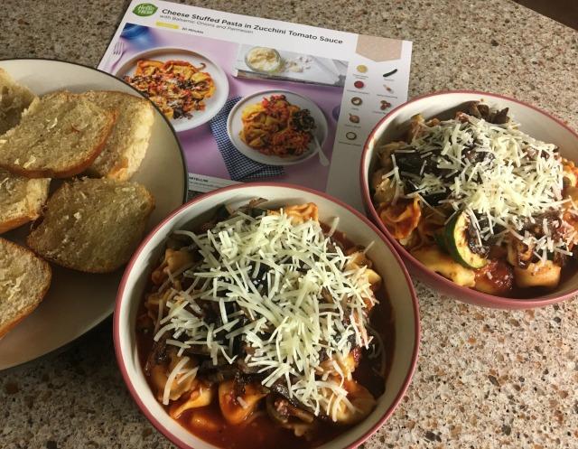 4 Pasta in Zucchini Tomato Sauce 1