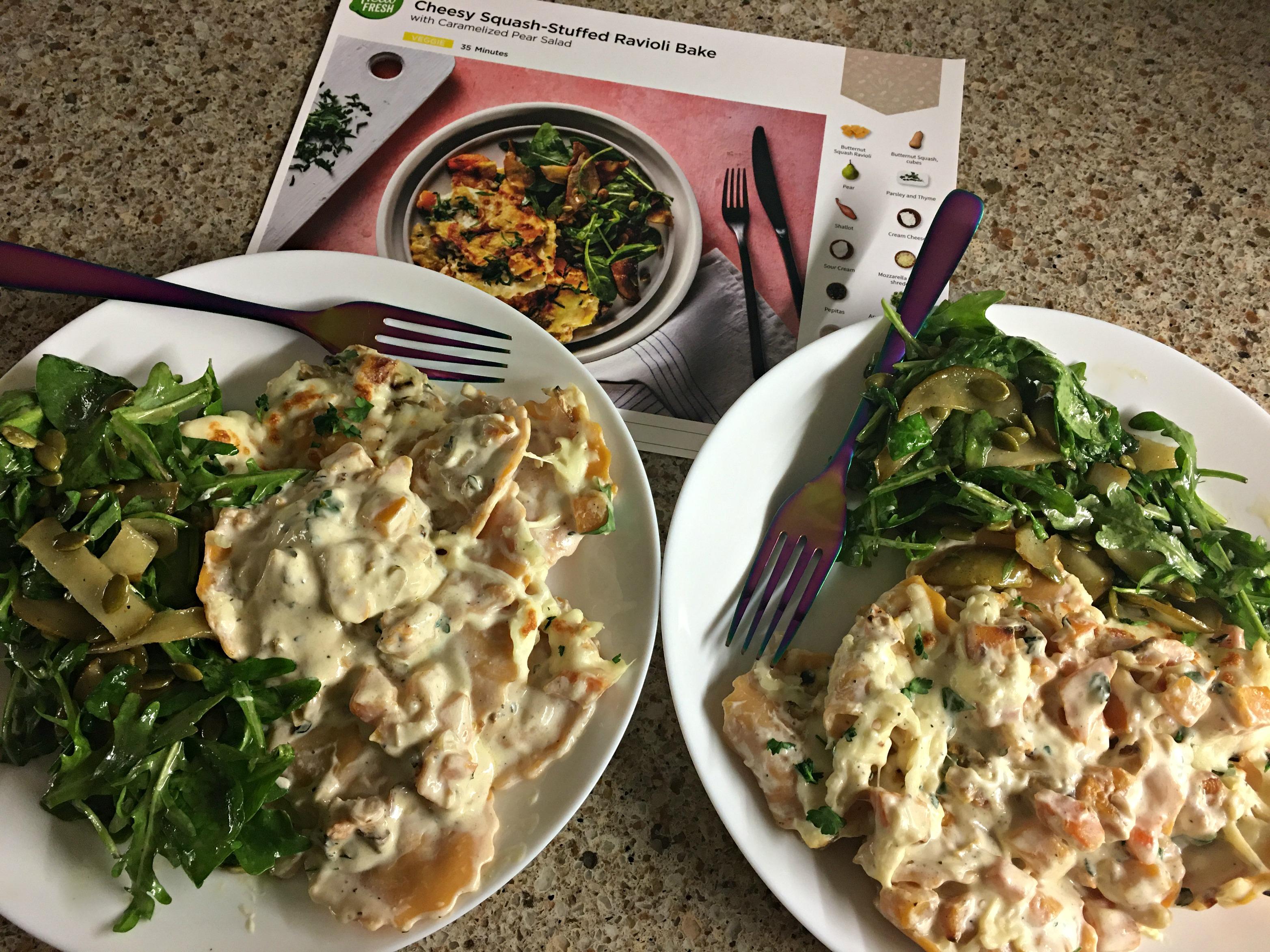 4 Squash Ravioli and Pear Salad 1